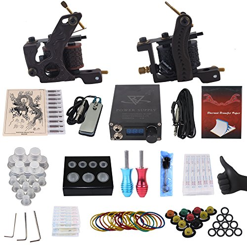 Yilong Complete Tattoo Kit 2 Machines Gun Carry Case With...