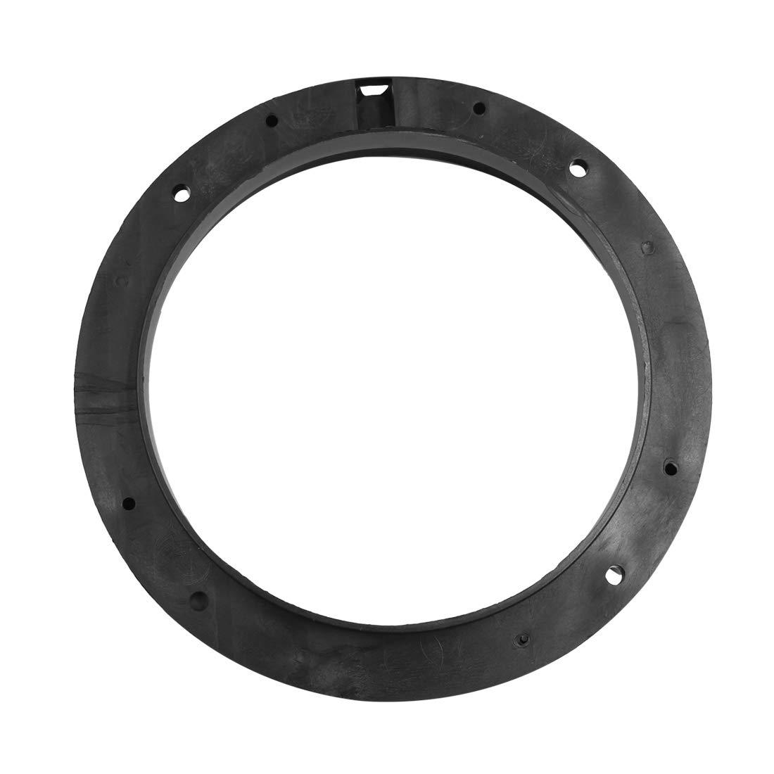uxcell/® 6.5 inch Car Black Plastic Speaker Spacers Round 2 Pcs