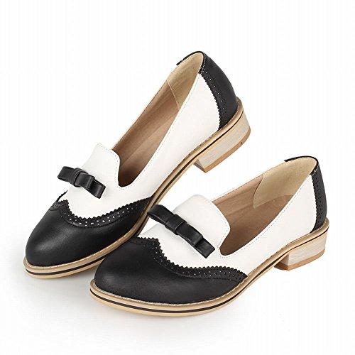 Show Shine Womens Fashion Sweet Colori Assortiti Fiocchi Mocassini Flats Shoes Nero