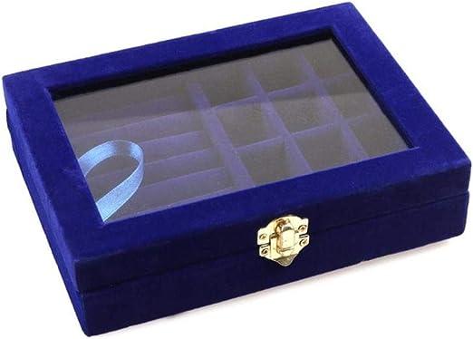 TOSISZ Cristal de Terciopelo Caja de exhibición de Joyas ...