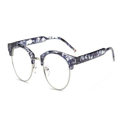 Hzjundasi Mode Coloré Cru Femme Lunettes de soleil Métal Cadre Miroir Oeil de chat Lunettes Lentille Claire Des lunettes de soleil DLx8D