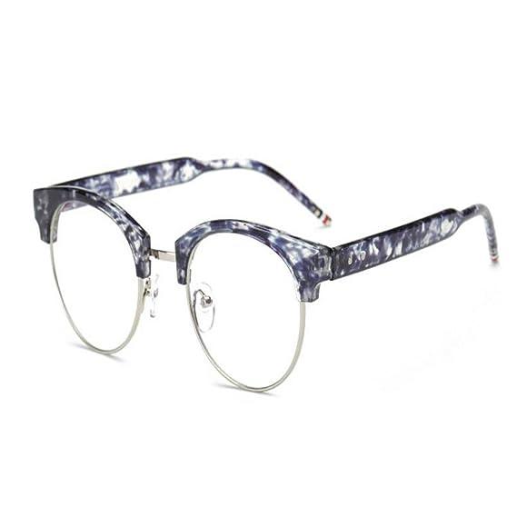 Hzjundasi Lumière bleue Filtre Ordinateur Des lunettes Semi-sans monture  Vintage Lentille claire Lecture Lunettes 3c8c4f53fa00