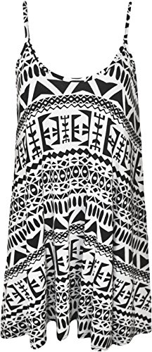 Long Big Strappy Printed Vest Mini Dress Swing Click Aztec Selfie q7wCUx8nt
