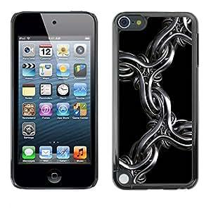 PC/Aluminum Funda Carcasa protectora para Apple iPod Touch 5 3D Metal Chain / JUSTGO PHONE PROTECTOR