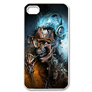 Bloomingbluerose Cool Skull Cases for IPhone 4/4s, with White