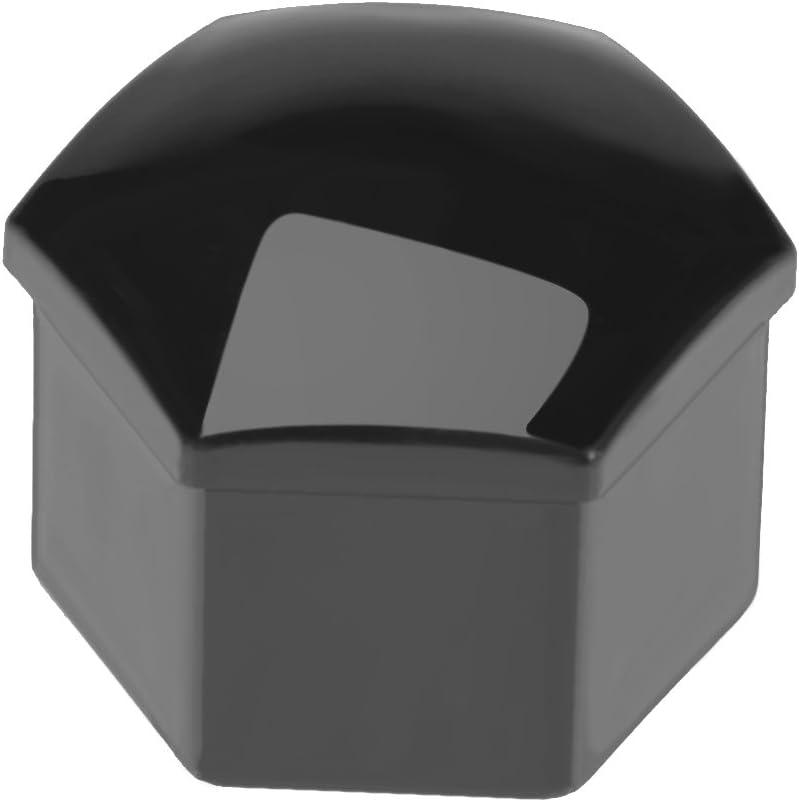 D/&HO 20 Pcs 17mm Car Wheel Lug Bolt Nut Covers Caps Black with Tool