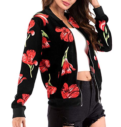 Cute Varsity Jackets For Girls - Coolred-Women Large Size Floral Tribal Varsity