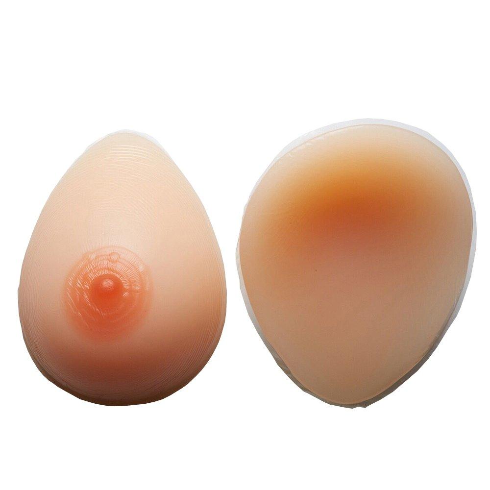 Fengyuan Implantes de silicona formas de los senos Mastectomía (taza B (600 g/par), beige): Amazon.es: Ropa y accesorios