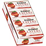 Trident Layers Wild Strawberry & Tangy Citrus Sugar Free Gum 14 Piece (8 Pack)
