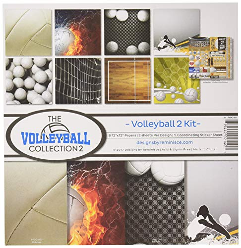 Volleyball Scrapbooking - Reminisce The The Volleyball Collection 2 Scrapbook Kit