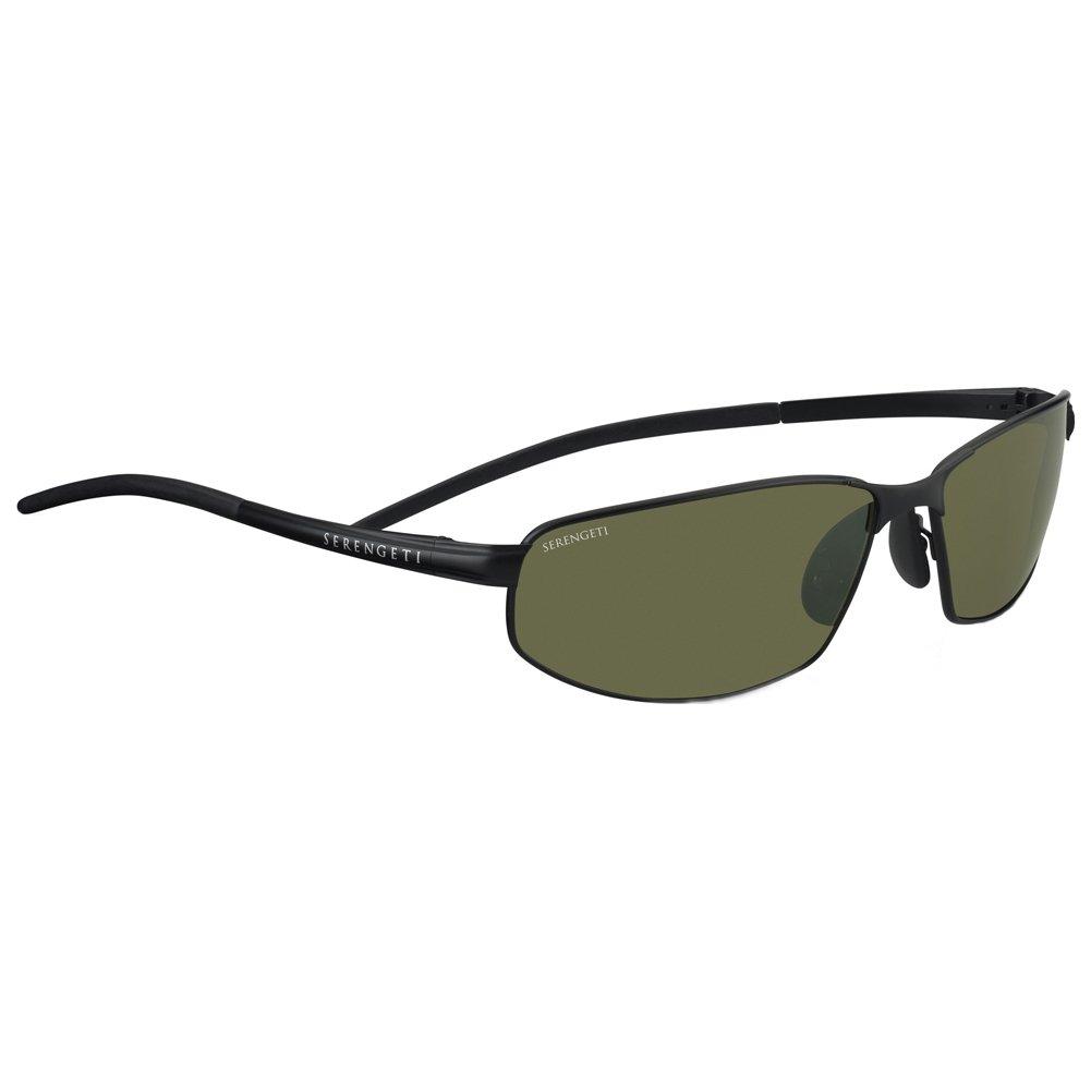 Serengeti Granada Classic Metal Sunglasses, Espresso, Polarized Drivers 7300