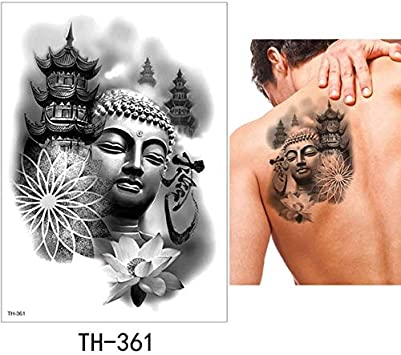 HXMAN 5 Hoja Temporal Tatuaje Pegatina Fresco Falso Tatoo ...
