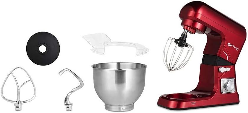 MAGNANI Robot de Cocina Rojo 1000W, Robot de Cocina batidora 5L, Batidora Multifuncional con 3 Accesorios y Tapa, Batidora para Montar Huevos, amasar, Mezclar: Amazon.es