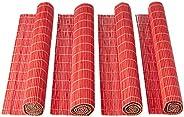 Jogo Americano Bambu com 4 Unidades Mimo Style Vermelho