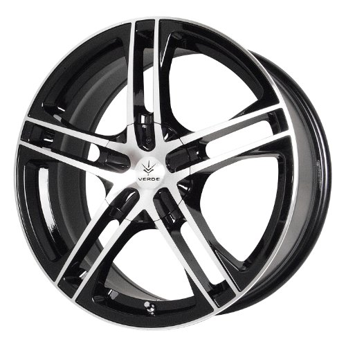 Verde Custom Wheels Protocol Black Wheel with Machined Lip - 16x6 Alloy 5 Spoke