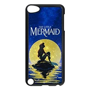 HOT Selling Beautiful GOLD Moon THE LITTLE MERMAID Phone Case for APPLE iPod Touch 5th Generation Best Durable Hard Plastic Case
