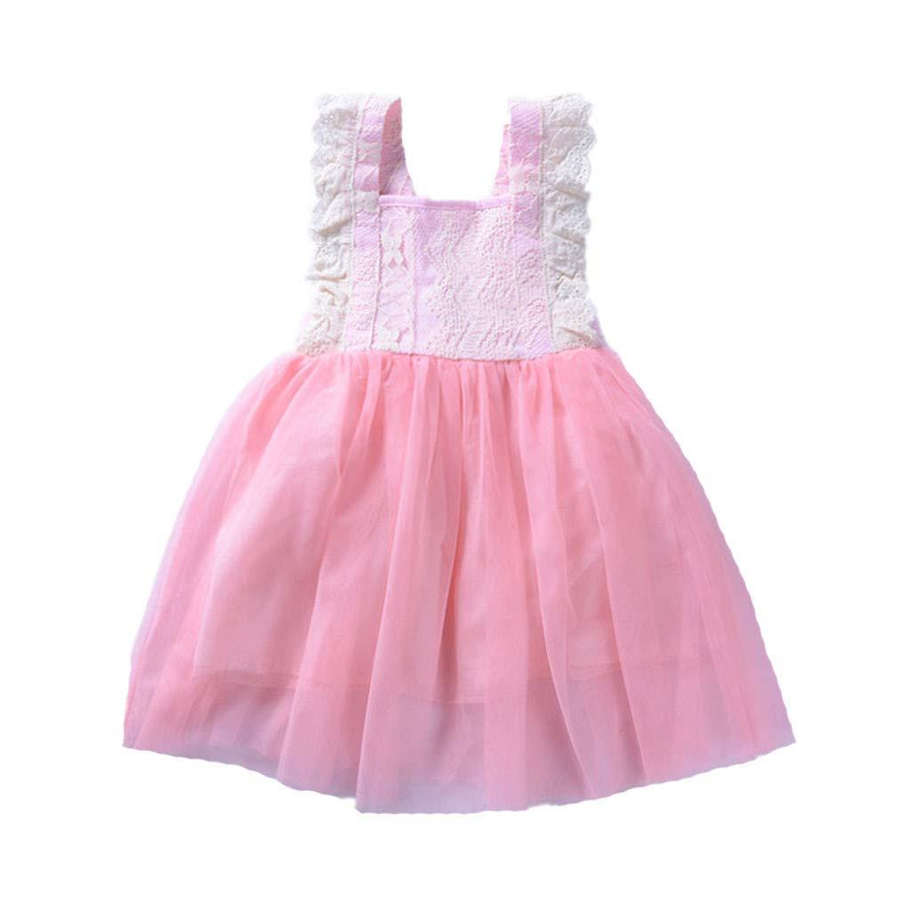 Hstore Newborn Baby Girls Lace Dress Mesh Tutu Summer Princess Dress