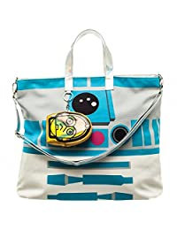 Tote Bag - Star Wars - R2D2 Oversized Jrs w/ C3PO Coin Pouch New Toys lt31m0stw