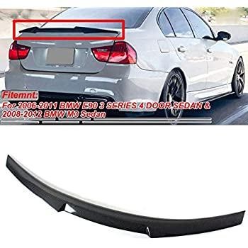 Pre-painted Black Trunk Spoiler ABS Tail Wing Compatible with 05-12 E90 3-Series /& M3 M4-V Style Spoiler