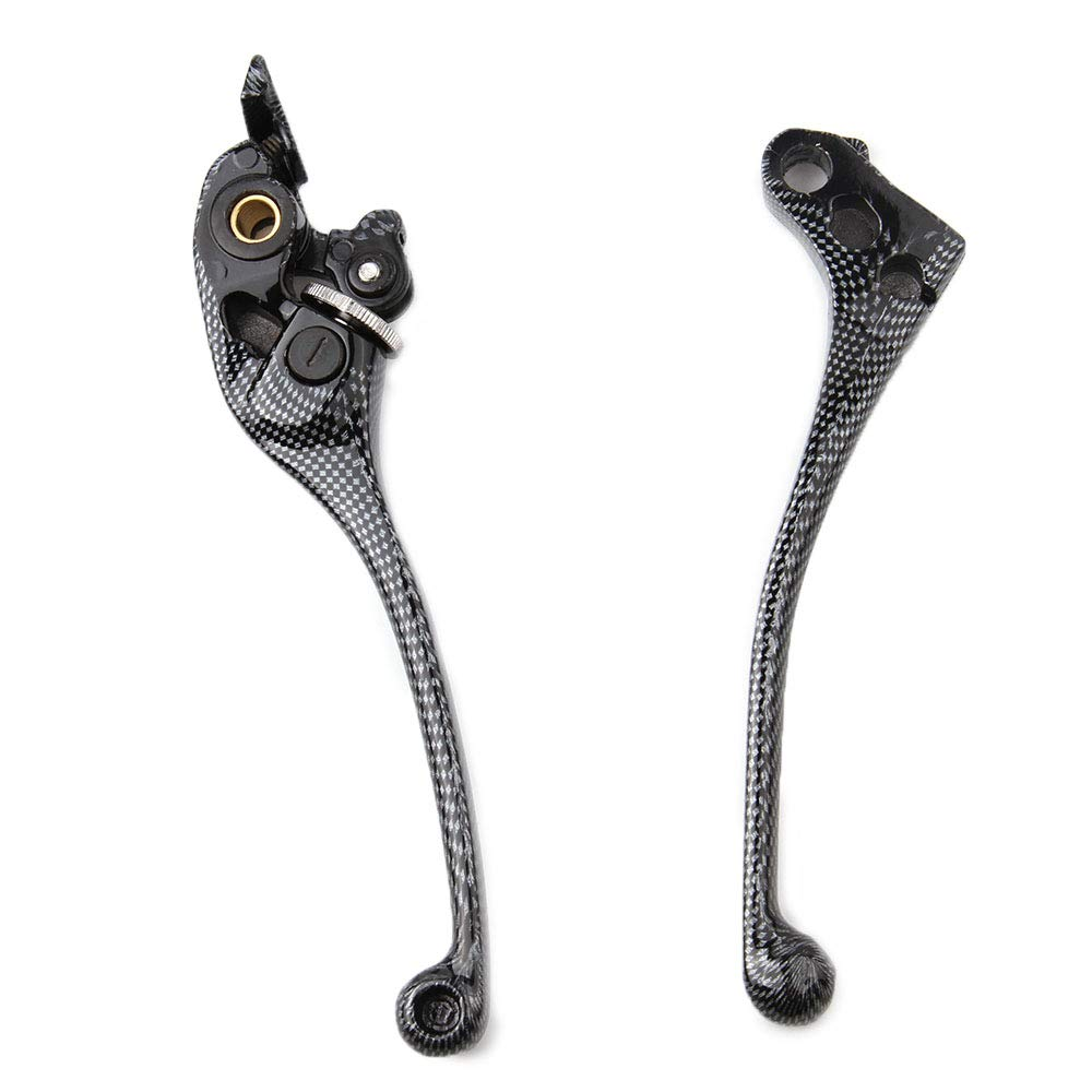Leviers dembrayage de frein en alliage daluminium de moto pour Honda CBR600 F1 F3 F4i CBR 900RR HORNET CB600 HORNET CB900 F4 F2 Noir