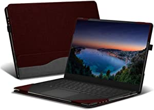 """Honeymoon HP Spectre x360 13-AWxxx 13 Inch Series 2 in 1 Laptop Case Cover,PU Leather Folio Stand Protective Case Compatible with HP Spectre x360 13t Touch (Released in 2019) 13.3"""" Series,Red"""