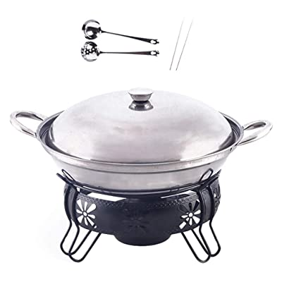 Guoguocy BBQ Barbeque Barbecue Grill, Korean Household Smokeless Stainless Steel Alcohol Dry Boiler, Fire Boiler, Indoor and Outdoor, 22cm (Size : 22cm22cm) : Garden & Outdoor