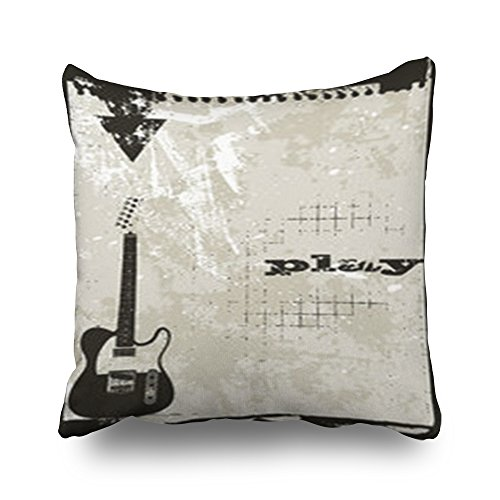 Custom Grunge Style Music Themed Complete Layout Rustic Star Throw Pillows Covers Design Sofa Decor Pillow Case Square 18 x 18 Inches Home Decorative Cushion (Egyptian Themed Wedding)