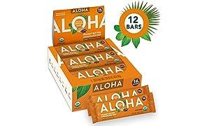 ALOHA Organic Plant Based Protein Bars |Peanut Butter Chocolate Chip | 12 Count, 1.9oz Bars | Vegan, Low Sugar, Gluten Free, Paleo, Low Carb, Non-GMO, Stevia Free, Soy Free, No Sugar Alcohols