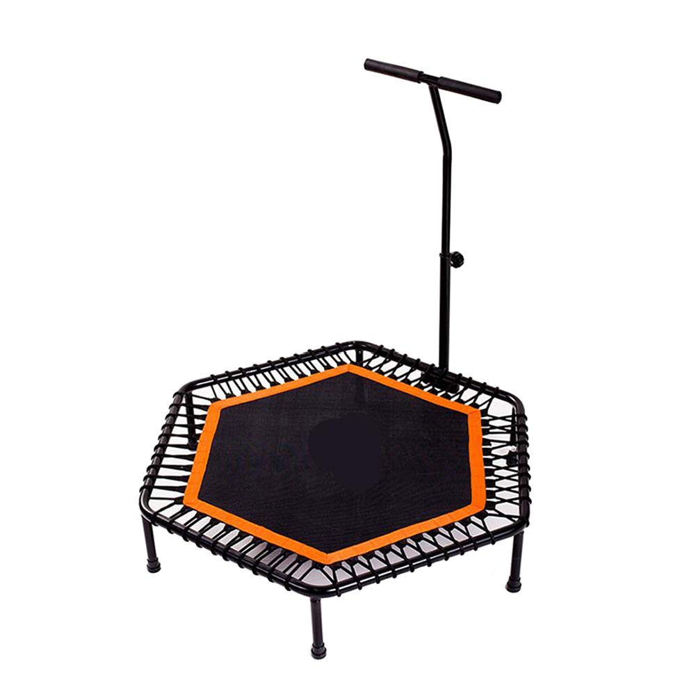 48-Zoll-Trampoline mit verstellbarem Handlauf, sicherem Elastikgurt-Rebounder-Fitness-Trainer für Kinder oder Erwachsene