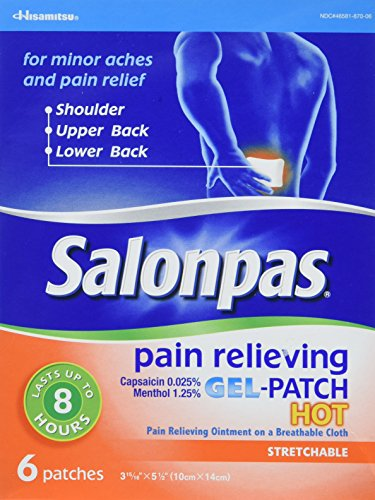 Salonpas Pain Relieving Hot Gel-Patch, Pack of 3 (18 patches total)