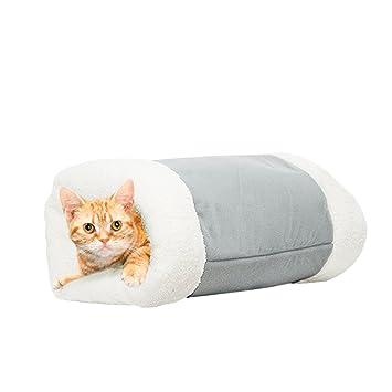 2 In 1 Tube Katze Matte Und Bett Luxus Winddicht Pet Tunnel Hohle