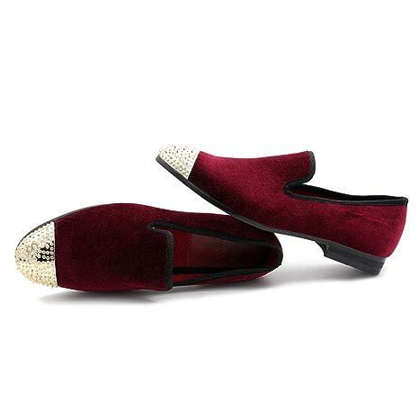 MMJ Zapatos Ocasionales de los Hombres, Hombres Mocasines de Cuero Slip on Flat conducción Zapatos