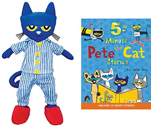 Bedtime Pete The Cat Bundle with 14.5 Plush Doll and Hardback 5-Minute Pete The Cat Stories: Includes 12 Groovy Stories (BedtimePete) from Generic