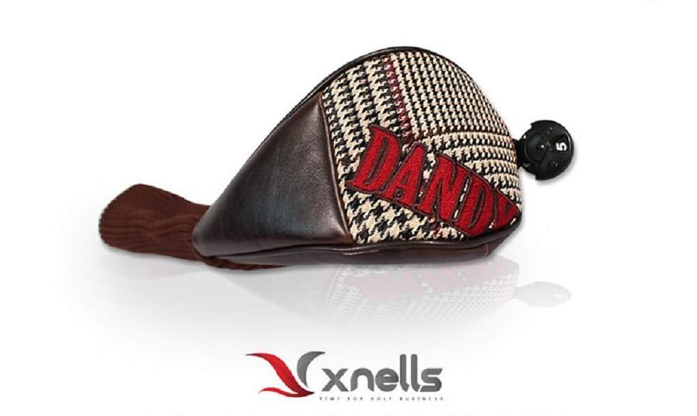 Dandy XNELLS ゴルフクラシッククラブウッドカバー クラシックチェック プレミアムゴルフヘッドカバー ユニークなデザイン 豪華で洗練されたアイテム パーソナルクラシック   B07QT77Z3P