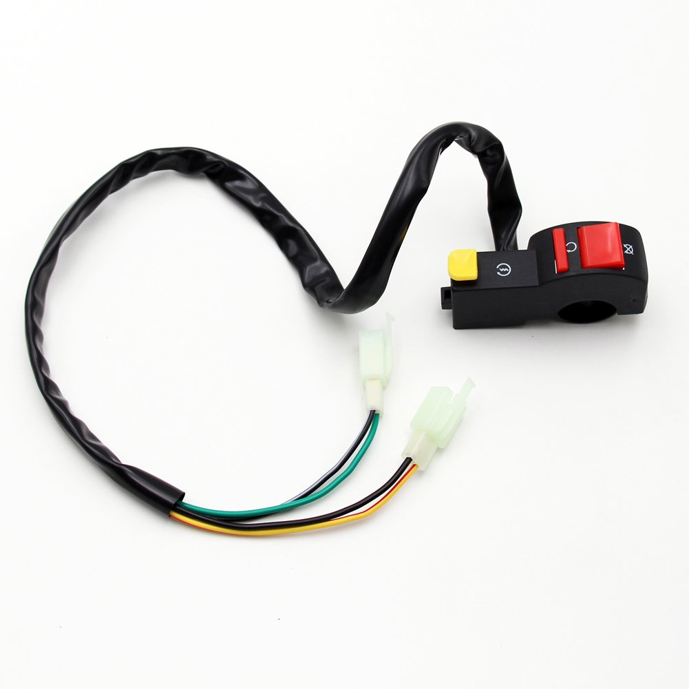 Full Wiring Harness Loom Solenoid Coil Regulator 50cc 70cc 90cc Electric Start Cdi Spark Plug Dirt Pit Bike 110cc 125cc