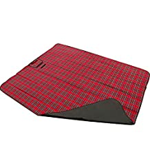 Edealing 1PCS Extra Large Waterproof Picnic Blanket Rug Travel Pet/Dog Caravan Camping Red