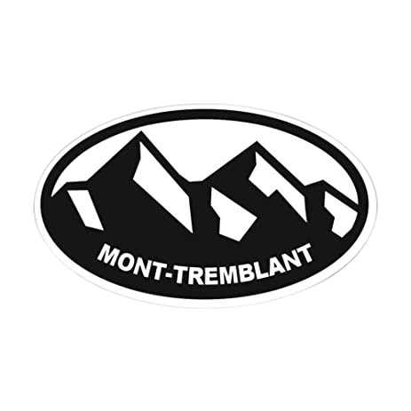 Cafepress mont tremblant oval bumper sticker euro oval car decal