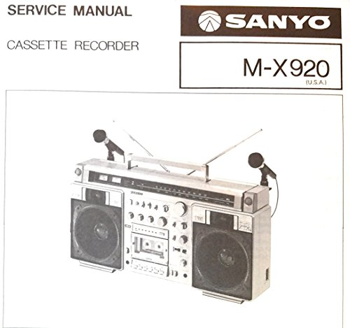 Cassette Service Manual - Service Manual for Sanyo MX920 Cassette Recorder
