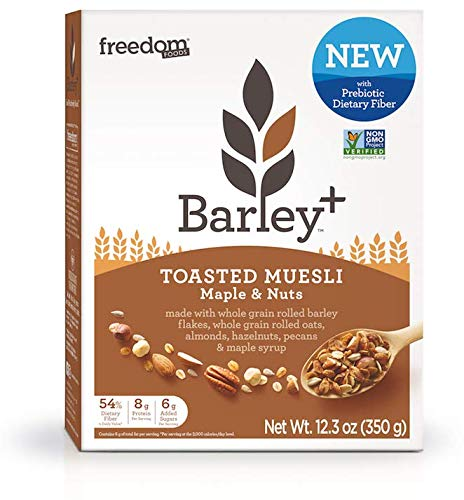 (Barley+ Multi Fiber Toasted Muesli (Maple & Nuts) - 12.3oz Box)