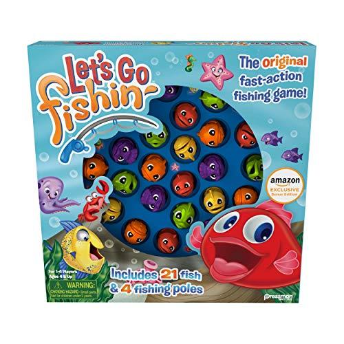 Amazon Exclusive Bonus Edition Let's Go Fishin' - Includes Lucky Ducks Make-A-Match Game! (Renewed)