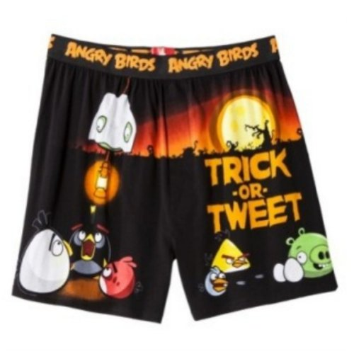 Angry Birds Mens Trick or Tweet Boxers Halloween Boxer Shorts Small Black]()