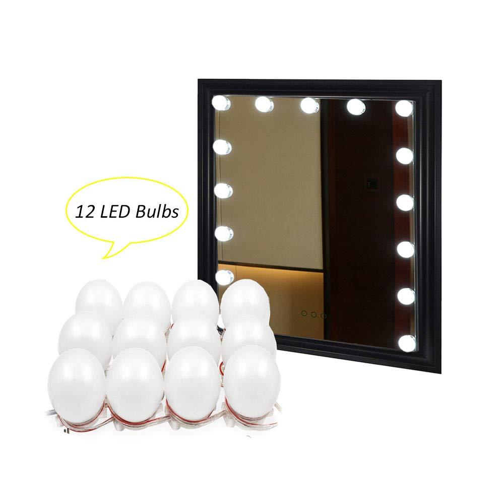 espejo no incluido Binen Espejo de luz LED Kit de luces de espejos de vanidad 9.8FT La luz de la mesa de luz con fuente de alimentaci/ón y el interruptor de atenuaci/ón t/áctil