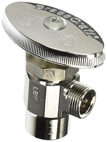 Brass Craft R19X C1 Supply Stop Valve (Comp Angle Stop)