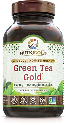 NutriGold Green Tea Gold Metabolism, Weight Loss, and Immune Support 375 mg (90 organic veggie capsules)