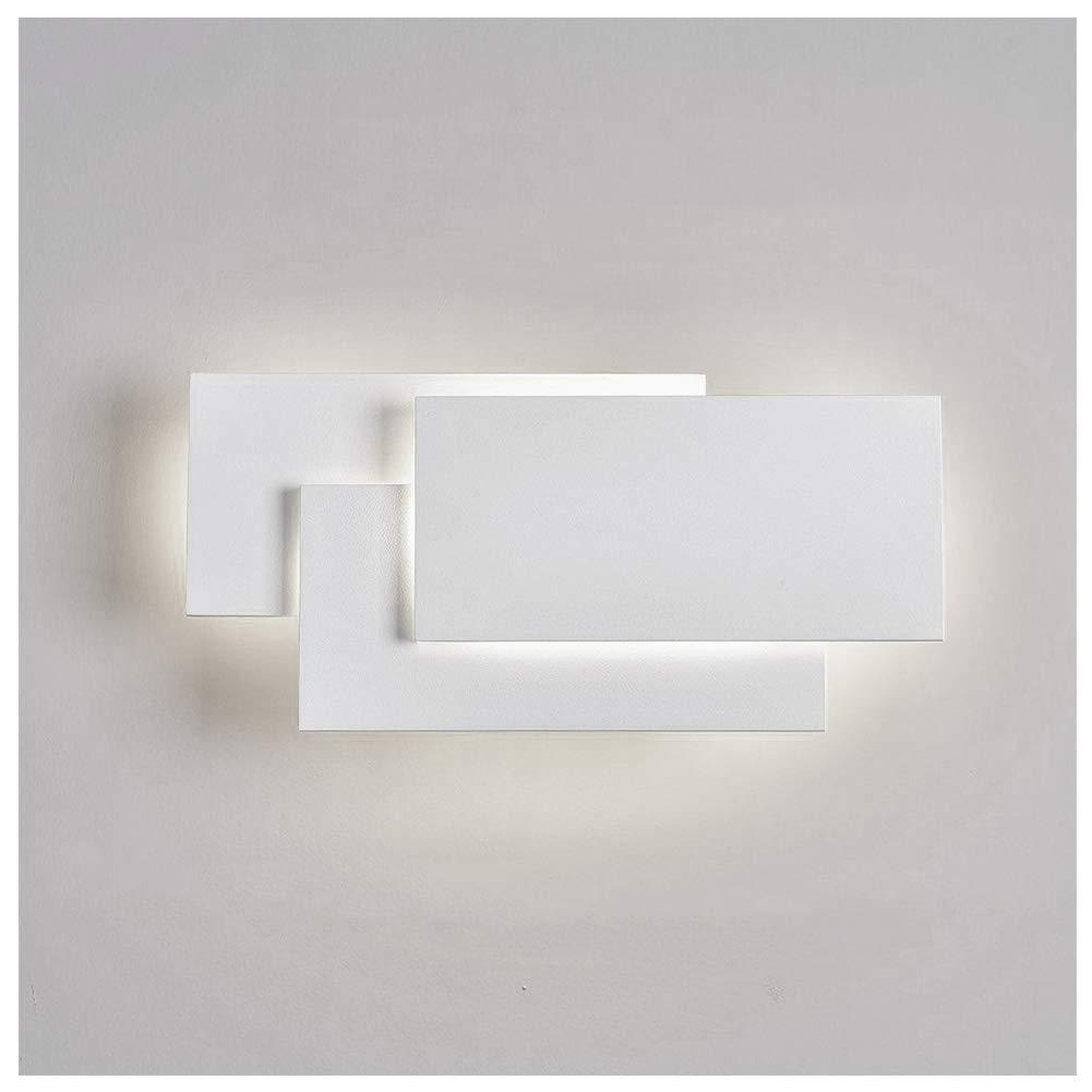 Ralbay Modern LED Wall Sconces 12W Aluminum Constructed Wall Light for Bedroom Living Room Decorate Hotel Light(White 4000K-4500K)