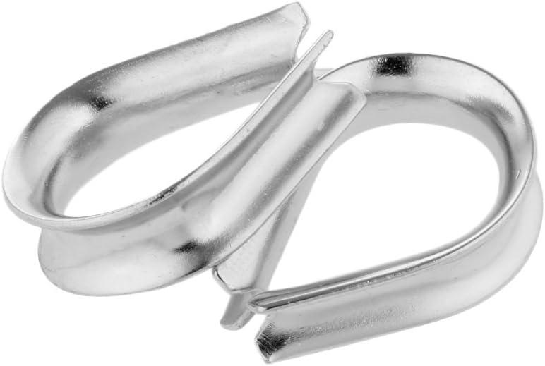 2pcs Edelstahl Kausche Seil/öse Kauschen Seil Seilkauschen Drahtseil 2mm Bis 12mm F/ür Seil /Ø 3mm