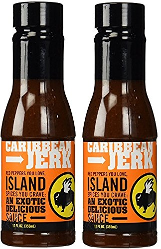 Buffalo Wild Wings Barbecue Sauces, Spices, Seasonings and Rubs For: Meat, Ribs, Rib, Chicken, Pork, Steak, Wings, Turkey, Barbecue, Smoker, Crock-Pot, Oven (Caribbean Jerk, (2) Pack) (Steak Sauce Pork)