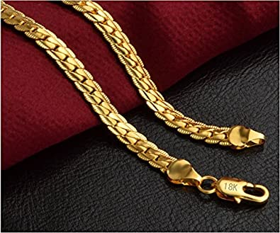 a02231ff9d7fb AVN JEWELLERS 22CT Pure Gold and ROHDIUM Coated Chain at Special Price