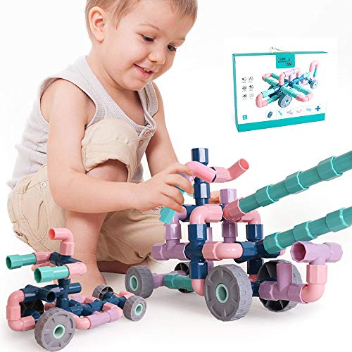 EP-Toy Advanced Pipeline Buildable Blocks, Can Be Used to Build Plastic Blocks for Children DIY Educational Toys,116PCS ()