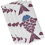 E by design Big Fish, Animal Print Napkin, 19 x 19'', Purple